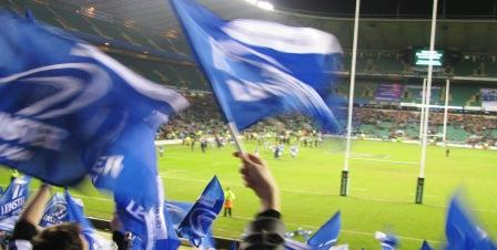The Leinster supporters at Twickenham January 23rd 2010